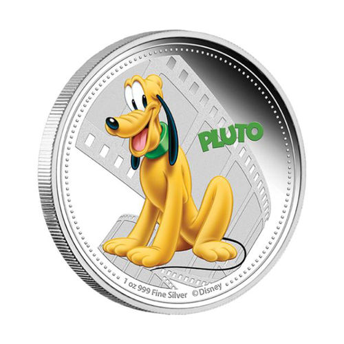 Pluto hopearaha Disney