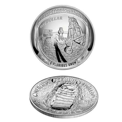 Apollo 11 5oz US Mint erikoishopearaha - US Mint