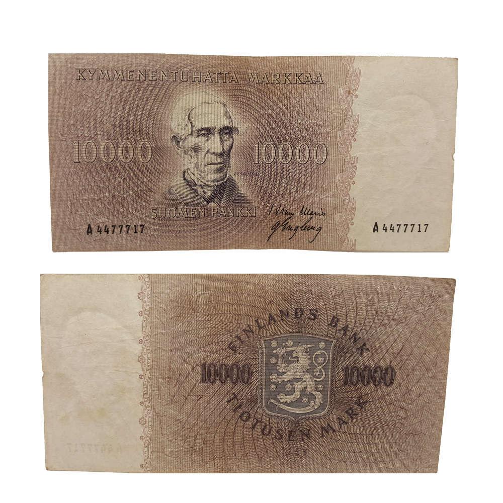 10 000 mk seteli 1955 Suomi
